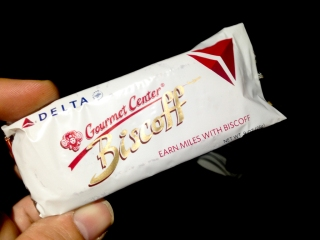 Biscoff: Made in Belgium, imported in SF (United's hub) and the official food of an Atlanta Airline.