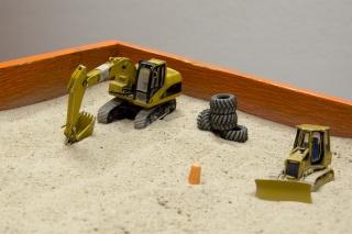 Sandbox equipment used for training.